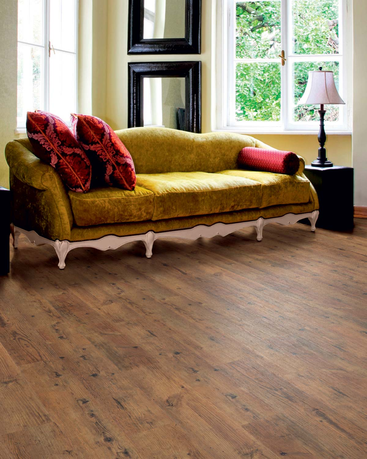 Rustic Oak Effect Luxury Vinyl Flooring From J2