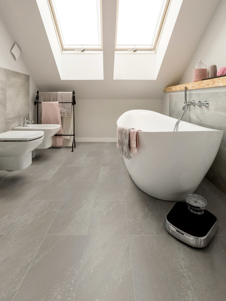 Fossil Limestone effect luxury vinyl flooring from j2 Flooring
