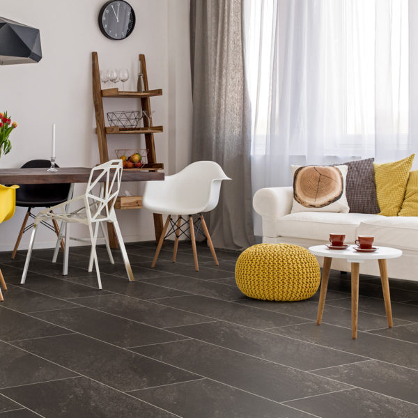 Nero Stone effect luxury vinyl flooring from j2 Flooring