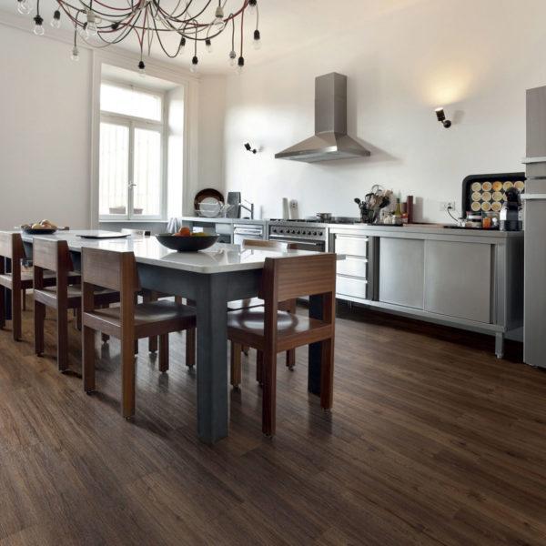 Brushed Walnut effect luxury vinyl flooring from j2 Flooring