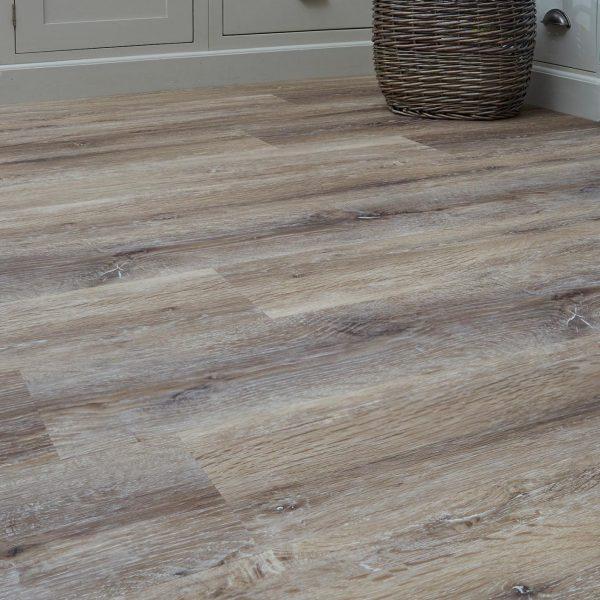 Taupe Brushed Oak effect luxury vinyl flooring from j2 Flooring